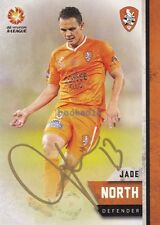 Signed Jade North Brisbane Roar Autograph on 15-16 Card