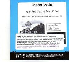 (DP801) Jason Lytle, Your Final Setting Sun - 2012 DJ CD