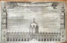 OSTEND TOWN HALL IN 1711, BELGIUM,  Francois  Foppen Antique Print 1720