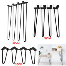 2 Rod Steel Hairpin Leg Table Dinner Desk Legs 30/60/90cm 4Pcs AU!