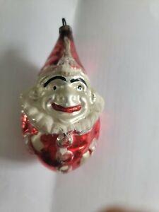 Antique German Blown Glass Jester/ Clown Christmas Ornament