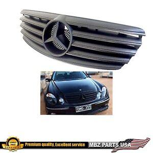E55 E63 Grille E-Class Matte all Black AMG Flat E320 E500 2003 2004 2005 2006