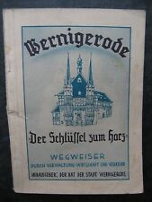 Wernigerode-Wegweiser durch Verwaltung Wirtschaft und Verkehr  1948 Harz