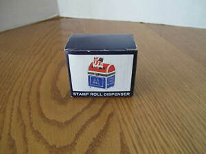 Vintage USPS U.S. Mailbox Stamp Dispenser Holder Hinged Holds 1 Roll NEW In Box