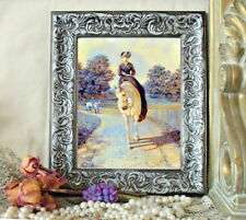 SALE Sidesaddle HERRING Lady White Horse Print Antique Styl Framed WAS $34.95
