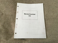 Midway Mortal Kombat Kit Manual