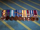 9 MINIATURE MEDALS COURT MOUNTED READY FOR WEAR