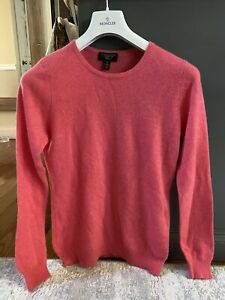 100% Cashmere Pullover Sweater Charter Club Womens Crew Neck Pink Size Medium