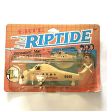 Ertl RipTide Screamin' Mimi Helicopter On Blister Card #1076 Die Cast Metal 1984