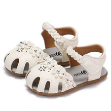 Toddler Baby Girls Sandals Flowers Roman Hollow Out Sandals Princess Shoes