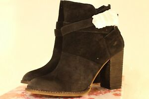 """*NEW* Size 8 or 9.5 - Suede Low Rise Boots - Black """"Zip It"""" - Chinese Laundry"""