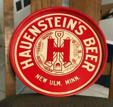 "Mint Hauenstein'S Beer - Brewing 14"" Inch Metal Tin Litho Tray New Ulm Mn 1930'S"