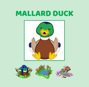 Webkinz Mallard Duck (CODE ONLY MESSAGED)