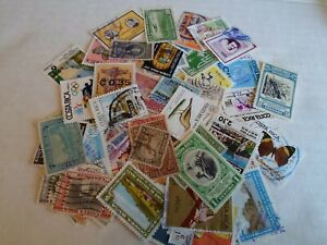 Collection lot 75 different Costa Rica stamps