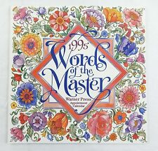 Vintage 1995 2017 Words of the Master Biblical Quotes Appointment Calendar