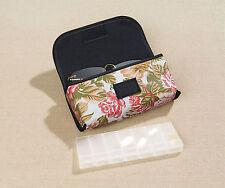 praktisches Brillenetui mit Pillenbox, Rosendekor, neu