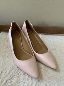 NIB- Tory Burch Women's Elizabeth Pointy Toe Leather Pump in Pink - Size 9