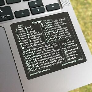 Excel for Mac - No-residue Vinyl Laptop Decal Sticker Learn Shortcuts