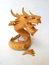 DRAGON Sculpture Spiral Dragon Figurine Handmade Craft 15c Driftwood Sawdust Nos