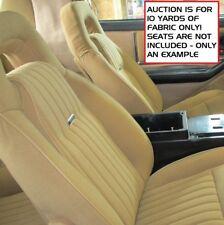 Firebird Trans Am Tan Parella Seat Cover Fabric 10 YARDS Knight Rider KITT Cloth