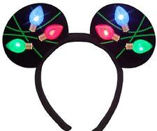 Disney Mickey Mouse Light Up Christmas Headband Ears Lights Theme Parks