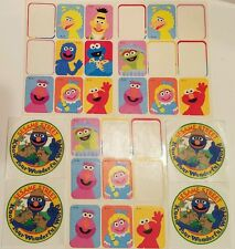 Sesame Street Stickers Assorted Lot of 22 Elmo Grover Big Bird Cookie Monster