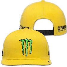 VALENTINO ROSSI 46 YAMAHA MONSTER YELLOW FLAT PEAK CAP 2016 HAT HEADWEAR