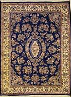 Rugstc 6x9 Senneh Pak Persian Blue Area Rug, Hand-Knotted,Kirman with Silk/Wool