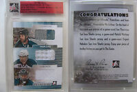 2014-15 ITG Ultimate Marleau Thornton Nabokov 1/1 franchises triplejersey 1 of 1