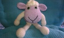 Lucy Lavender, a handcrafted/crocheted/amigurumi lamb
