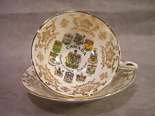 Paragon Vintage Cup & Saucer ~ Canada Coats of Arms & Emblems