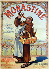 "16x20"" CANVAS Decor.Room design art print..Monastine.Wino monk.French.6132"