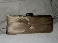 Arbella evening clutch shoulder bag with chain. Very pretty silky pleat. ex cond