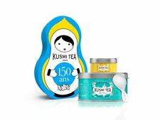 Blue Detox KUSMI TEA Wellness Doll set Gift set of 1 box and 1 miniature of tea