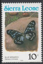 Sierra Leone 6802 - 1991 Schmetterlinge 10C Country in blau P14 nicht gefaßt