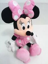 """Disney Minnie Mouse Doll Fluffy 19"""" H pink preowned"""