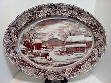 Johnson Bros. Home for Historic America Thanksgiving Turkey Platter 20""