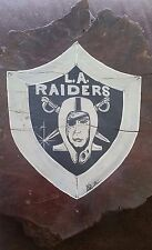 Collectible L.A. Raiders Hand Painted Burl Wood Bark Sign