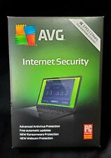 AVG INTERNET SECURITY 3pc's 2 years NEW SEALED BOX