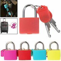 4X Mini Small Colored Padlock Travel Suitcase Luggage Bag Padlocks Lock Set UK