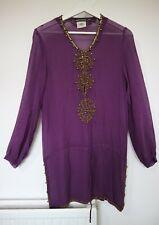 Femme femmes surdimensionné baggy coupe ample froid épaule chauve-souris top shirt uk 8-26