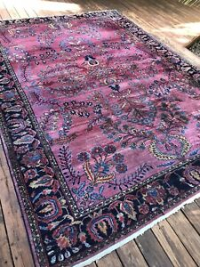 Antique P Lilihan Oriental Hand Knotted Large Rug 12 X 8.8