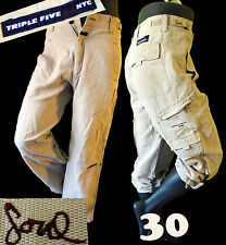 Triple five SOUL 555 khaki utillity clam digger short hiking 30 bermuda cargo ny