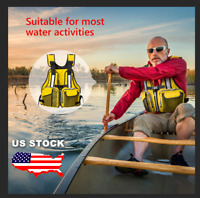 Adult Life Jacket Aid Sailing Boating Swimming Kayak Fishing Vest Outdoor Safety