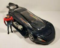 Vintage Batman the Animated Series Bruce Wayne Street Jet Batmobile 1993 Kenner