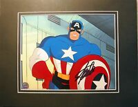 Captain America hand painted signed STAN LEE COA MARVEL original PRODUCTION cel