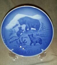 Bing and Grondahl Mother's day plate 1985 bear and cubs