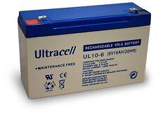 Ultracell UL10-6 Batteria al piombo 6V 10Ah ad alta corrente di scarica 150A