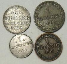 GERMANY HANOVER - HAMBERG 4 X COINS 1855 TO 1859
