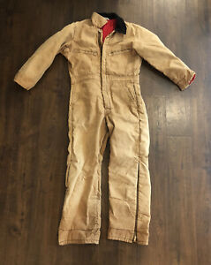 Vintage Key Imperial Coveralls Adult Small Workwear Outdoors Quilted Khaki Mens